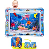 JOLI Tummy Time Water Mat with a BONUS BABY BATH BOOK Infants and Toddlers Sensory Playmat Babies Eco Friendly Belly…