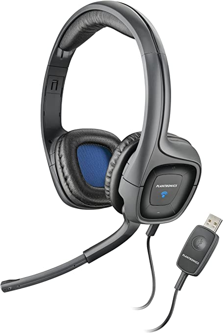 Amazon Com Plantronics Audio 655 Usb Multimedia Headset With Noise Canceling Microphone For Pc And Mac Electronics