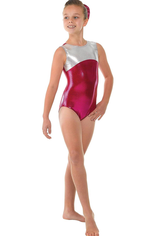 Vestido de gimnasia sin mangas para niña, brillante, color plateado y azul: Amazon.es: Juguetes y juegos