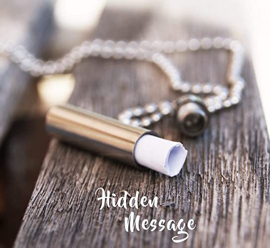 Image Unavailable Not Available For Color Hidden Message Necklace Personalized Keepsake Birthday Gift Boyfriend Long Distance