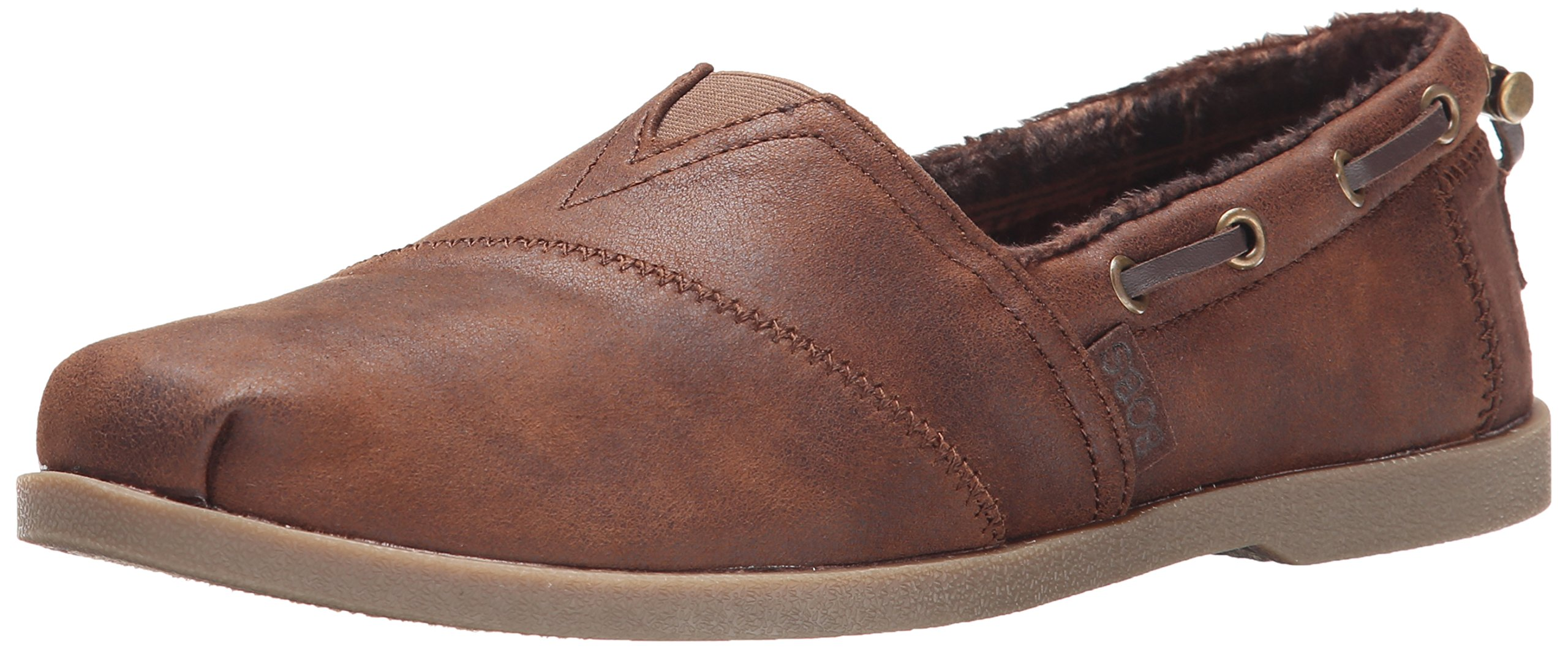 Skechers BOBS from Women's Chill Luxe Shoe, Brown, 7 M US