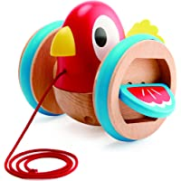 Hape E0360 Pull Along Bird Toddler Toy, Multicolor
