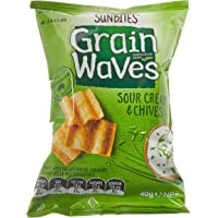 Sunbites Grain Waves Sour Cream and Chives Crackers, 18 x 40 Grams