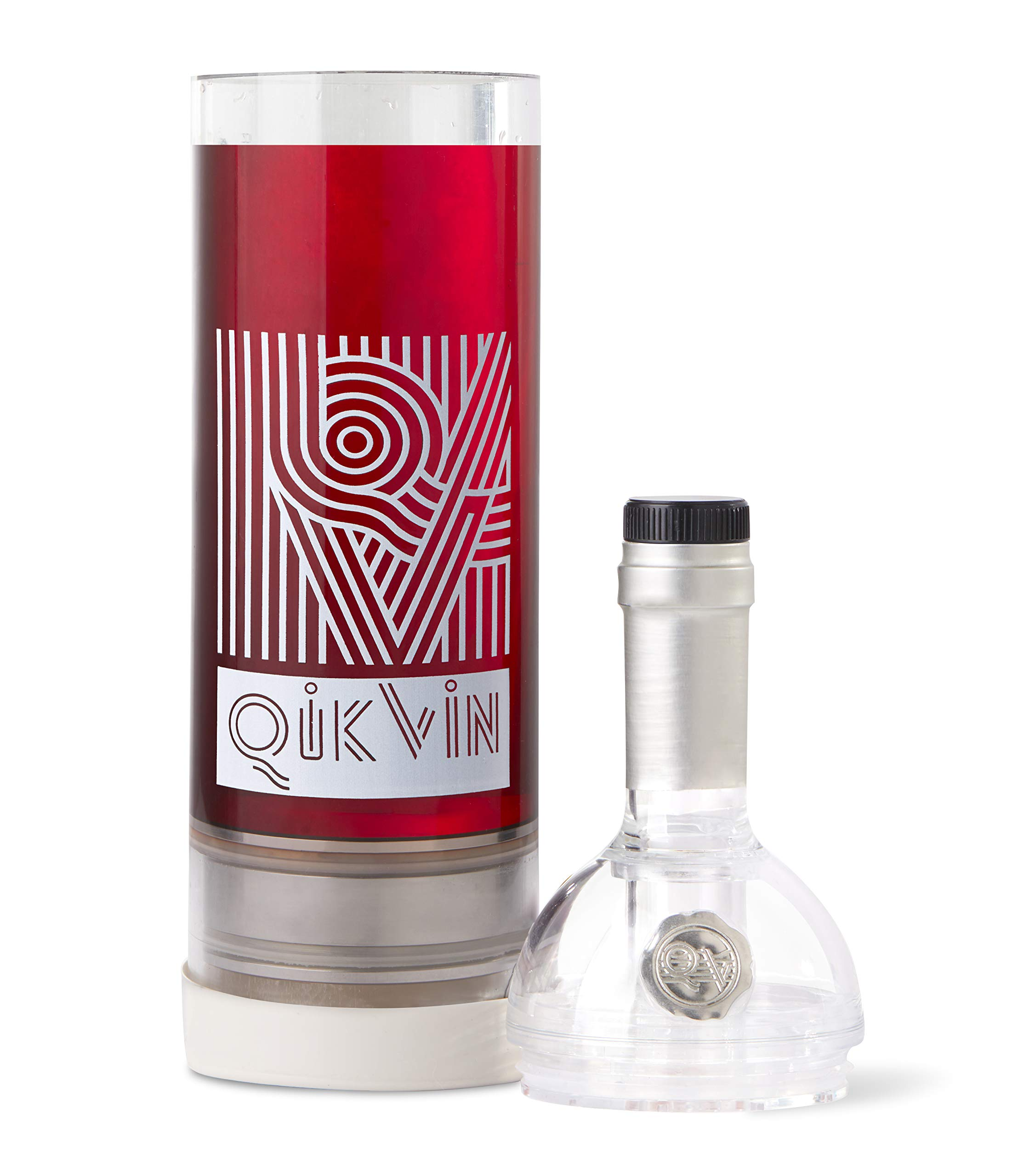 QikVin Wine Preservation System - Clear Red Wine Edition