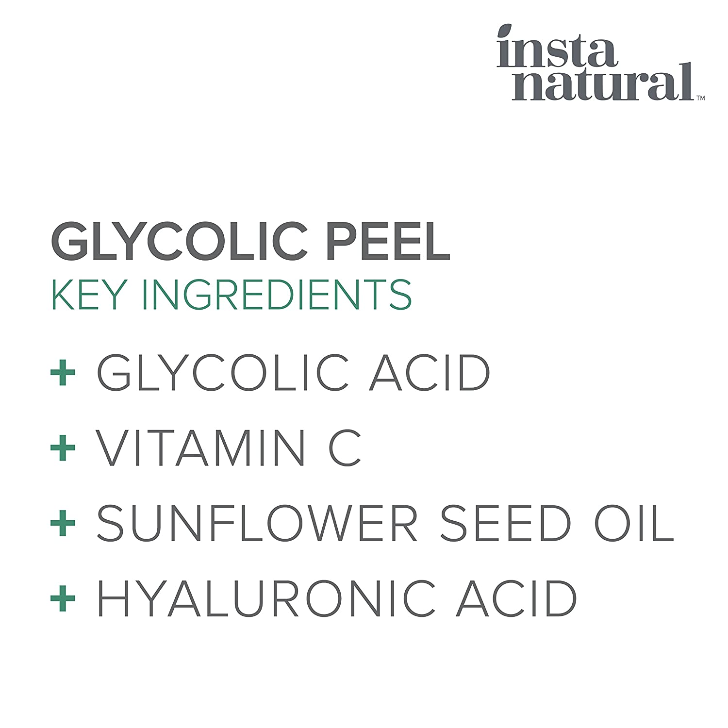 Amazon Com Glycolic Acid Peel 30 With Vitamin C Hyaluronic Acid