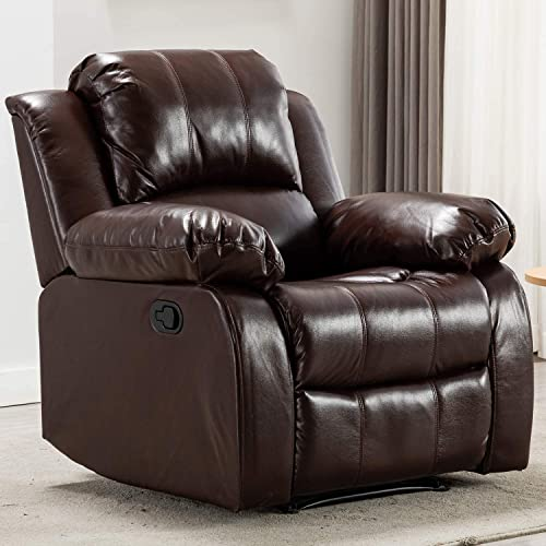 Bonzy Home Air Leather Recliner Chair Overstuffed Heavy Duty Recliner