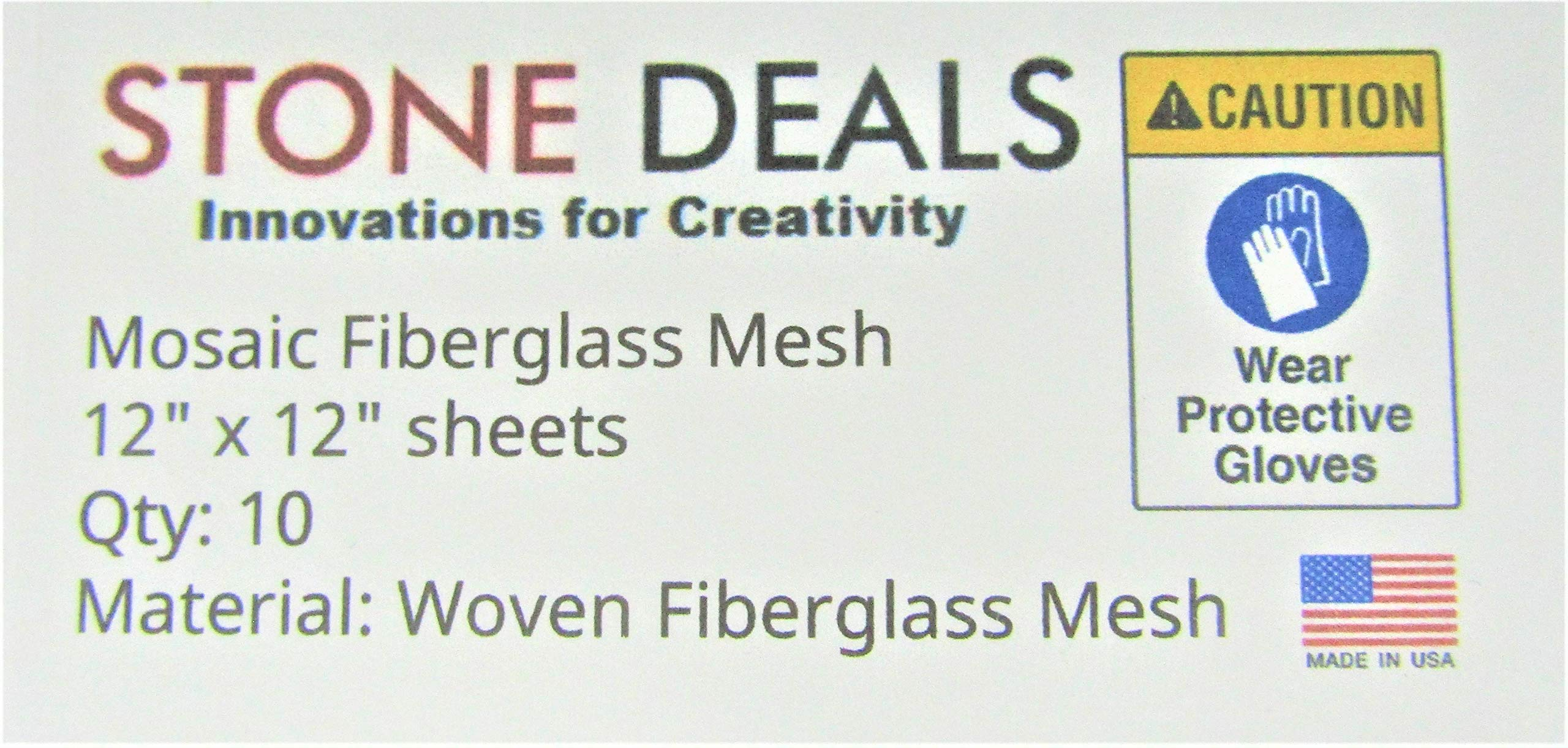 Stone Deals Mosaic Mesh for Back Mounted Tile 12'' x 12'' (Ten Sheets) by Stone Deals