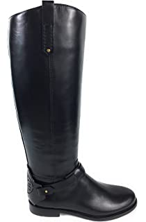e2e8d61479ce Tory Burch Riding Boots Derby Galleon Leather Black 8.5