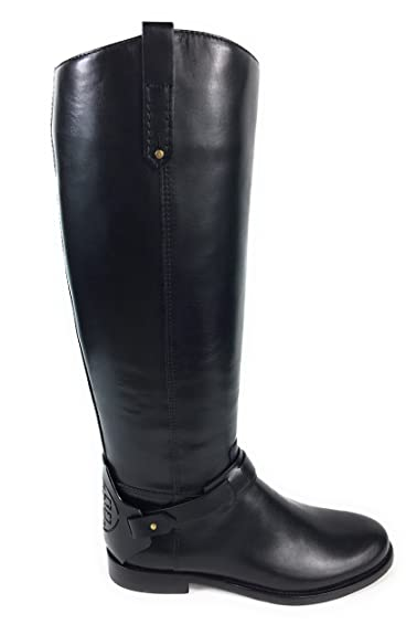 c08a0ede0e80 Amazon.com | Tory Burch Riding Boots Derby Galleon Leather Black 8.5 | Boots