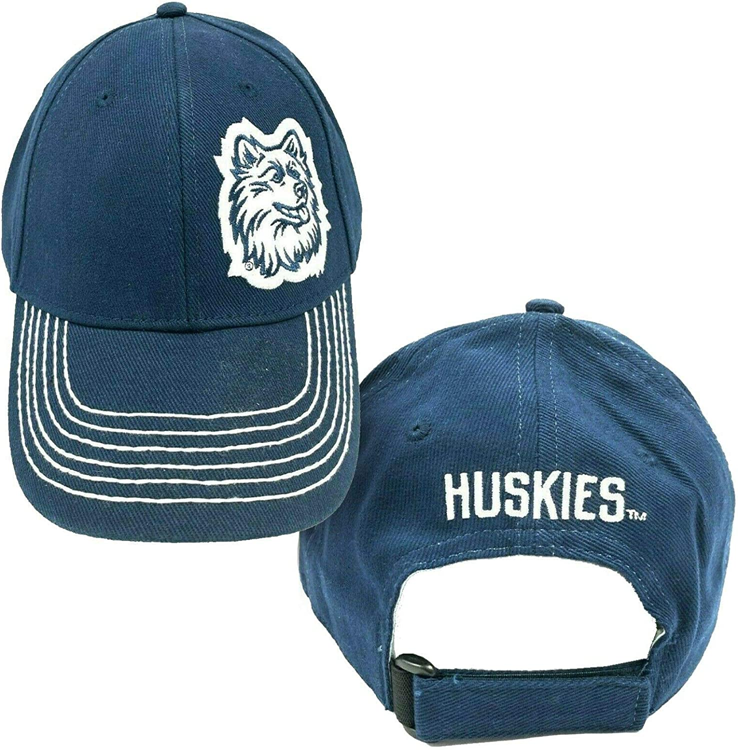 NCAA by Signatures UConn Huskies Navy Embroidered Adjustable D-Fit Cap