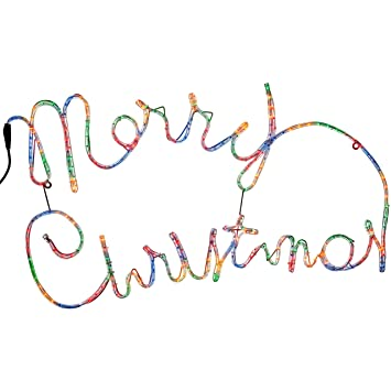 Werchristmas merry christmas rope lights silhouette decoration 100 werchristmas merry christmas rope lights silhouette decoration 100 cm large multi colour aloadofball Gallery
