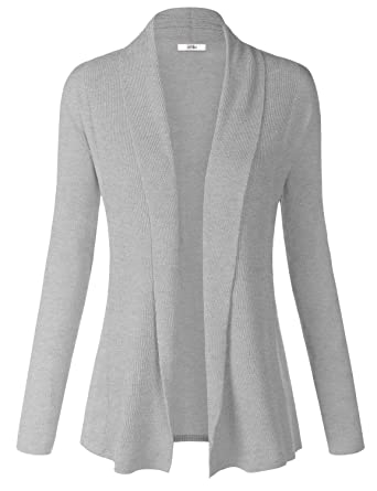 Women Soft Long Sleeve Open Front Cardigan Sweater at Amazon Women s ... 258a0dd6f