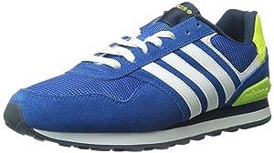 adidas NEO Men's 10K Lifestyle Runner Sneaker, Blue/White/Collegiate Navy, 9 M US