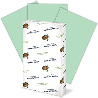 product image for Hammermill Colored Paper, 20 lb Green Printer Paper, 8.5 x 14-1 Ream (500 Sheets) - Made in the USA, Pastel Paper