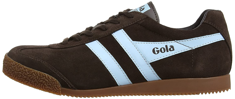 Gola Men's Harrier Fashion Sneaker B003VTZ42G 8 D(M) US|Dark Brown/Pale Blue