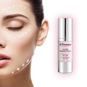 Mejor Serum Facial Hidratante + Ácido Hialurónico antiedad - Reduce las arrugas de la piel. Vitamina C, Vitamina A Retinol + Vitamina E + Coenzima Q10 + Elastina + Colageno. Antimanchas facial, No graso, piel sana y joven