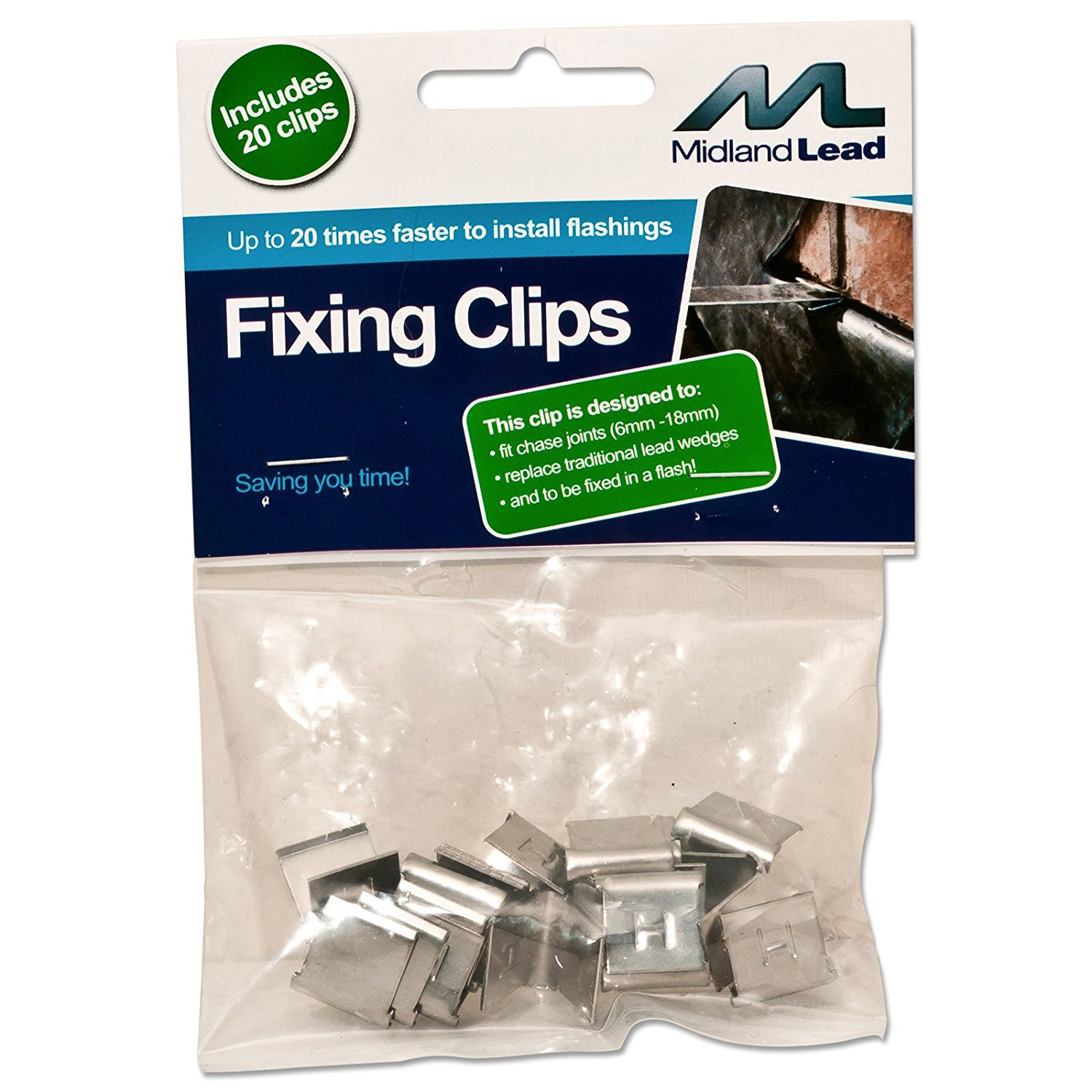 Hall clips -Bag of 50 - Lead flashing fixing clip - Fixed in a flash! Quick flashing clips easy flash use in the chase to dress before pointing or sealing