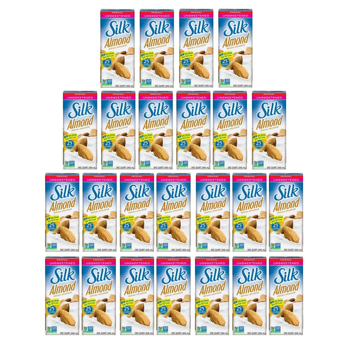 Silk Original Unsweetened Almondmilk, 32-Ounce (Pack of 24)