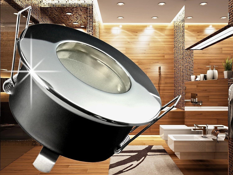 LED Einbau-Strahler für Bad, [Feuchtraum IP65], Einbau-Leuchte RW ...