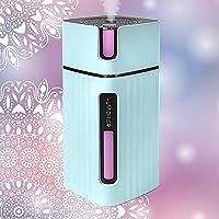Ultrasonic USB Mini Home Humidifier, Aroma Essential Oil Diffuser 300ml, Boho Decor, Multi Coloured LED Lights, Small…