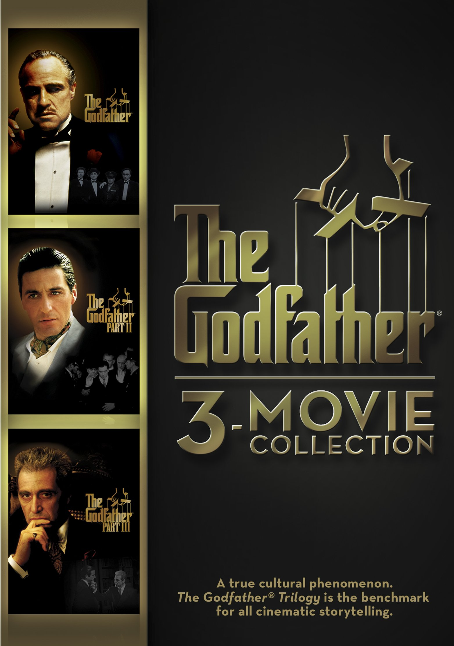 DVD : The Godfather: 3-Movie Collection (Widescreen, Dubbed, , 3 Disc, Sensormatic)