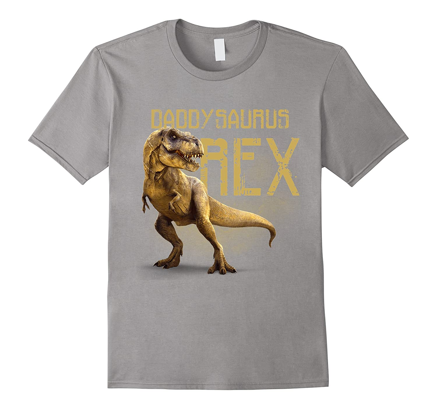 Mens Daddysaurus Rex Funny Dinosaur Dino Gift for Dad T-Shirt-RT