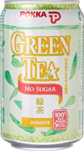 Pokka Jasmine Green Tea No Sugar 300 ml (Pack of 24)