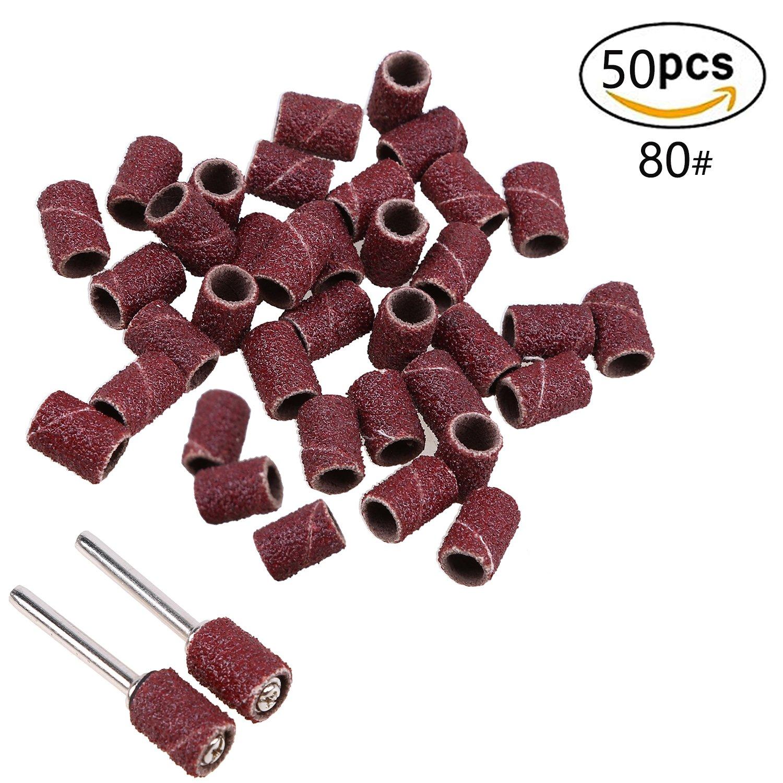 150 grit 320 grit Sanding Bands Sleeves Sanding Drum Kit 80 grit 180 grit 2-150# 50 Pcs for Dremel Rotary Tool 240 grit
