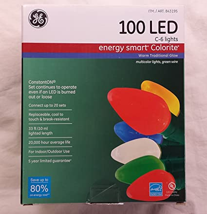ge energy smart 100 led c 6 holidaychristmas lights 33ft string