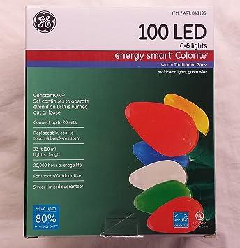 Ge Led Christmas Lights.Ge Energy Smart 100 Led C 6 Holiday Christmas Lights 33ft