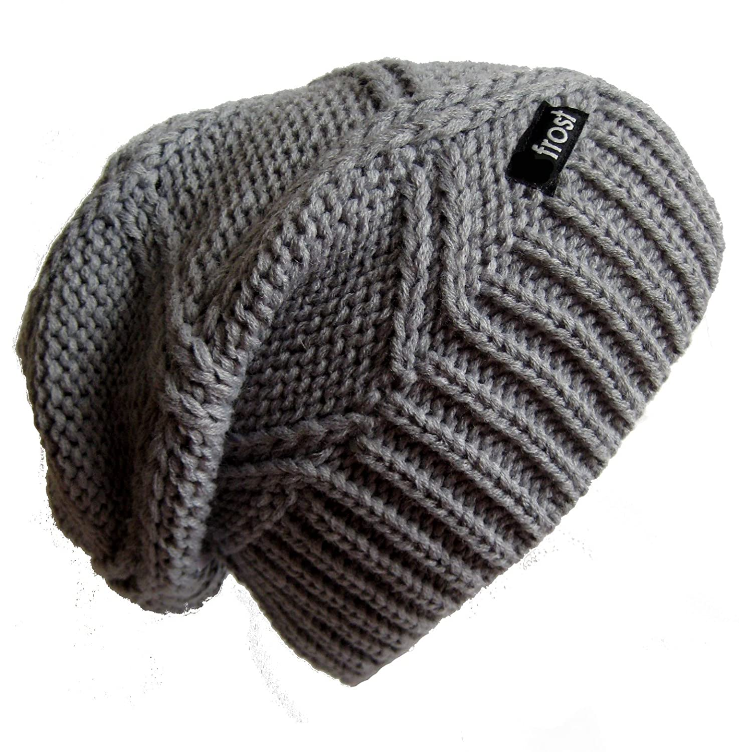 75ce116f710 Frost Hats M-113NF GRAY Winter Hat for Women Slouchy Beanie Chunky Knitted  Hat Winter Hat at Amazon Women s Clothing store