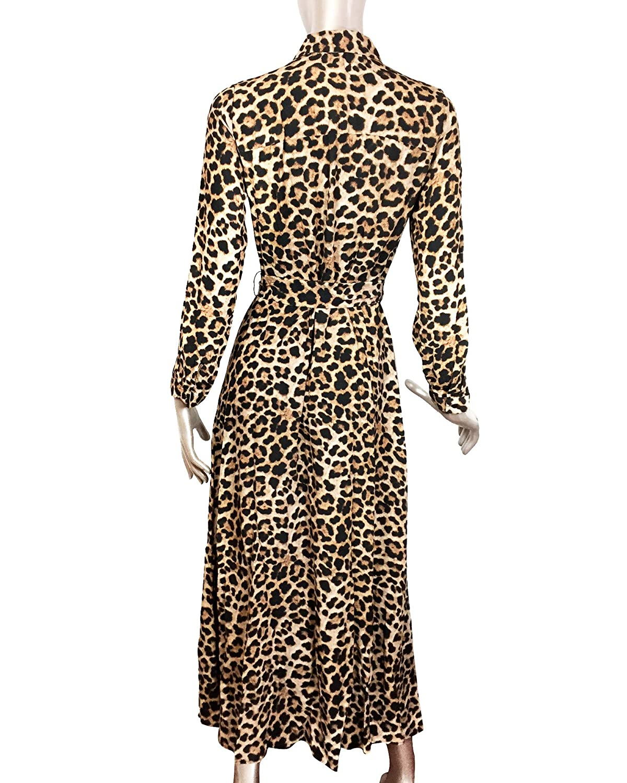 39e399e3 Zara Women Long Leopard Print Dress 7149/245 (X-Small): Amazon.co.uk:  Clothing
