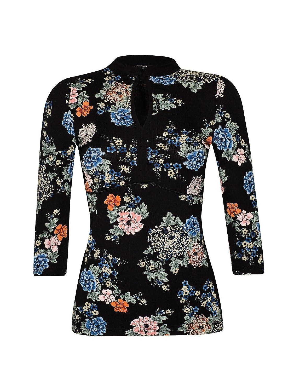 Vive Maria Shanghai Noon Shirt schwarz Allover-Print
