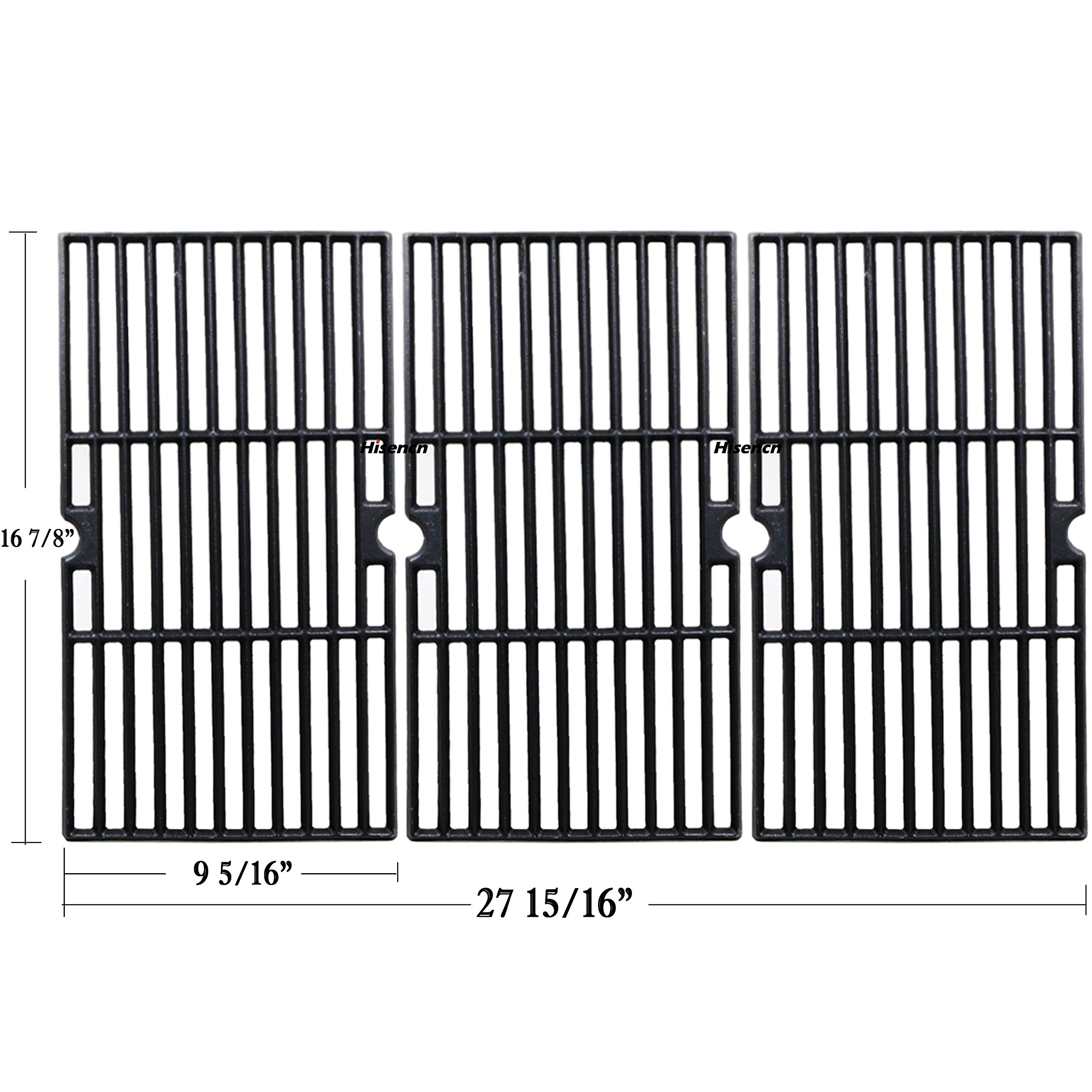 Hisencn 16 7/8'' Cast Iron Grill Cooking Grid Grate Replacement Part for Charbroil 463436213, 463436214, 463436215, 463420508, 463420509, 463440109, 463441312, 463441514, Thermos 461442114, 16 7/8 inch by Hisencn