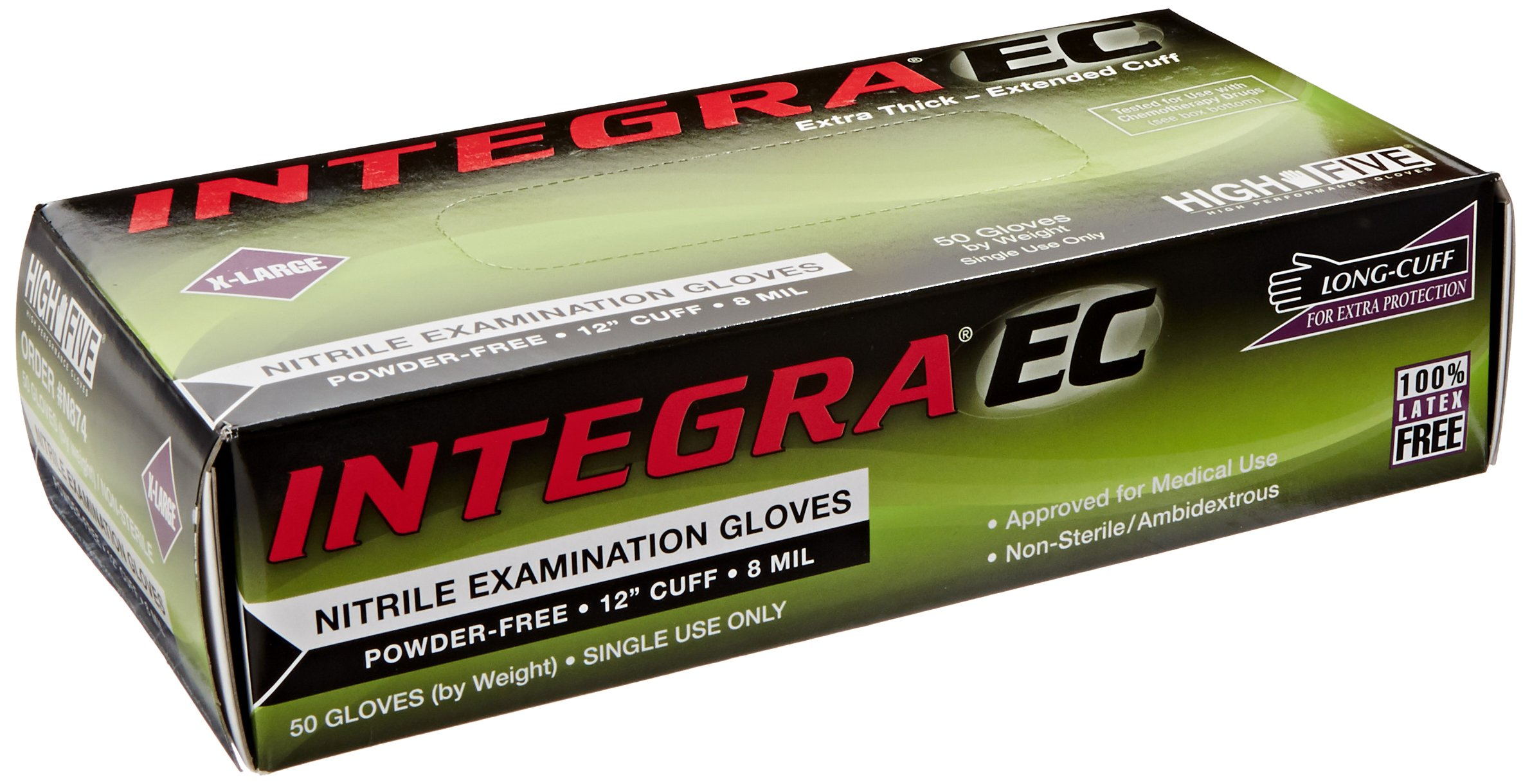 High Five Integra EC N874 Series N87 Nitrile Exam Glove, X-Large (Case of 10) by High Five (Image #2)
