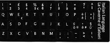 La Caverne dEabani® - Teclas autoadhesivas con teclado italiano