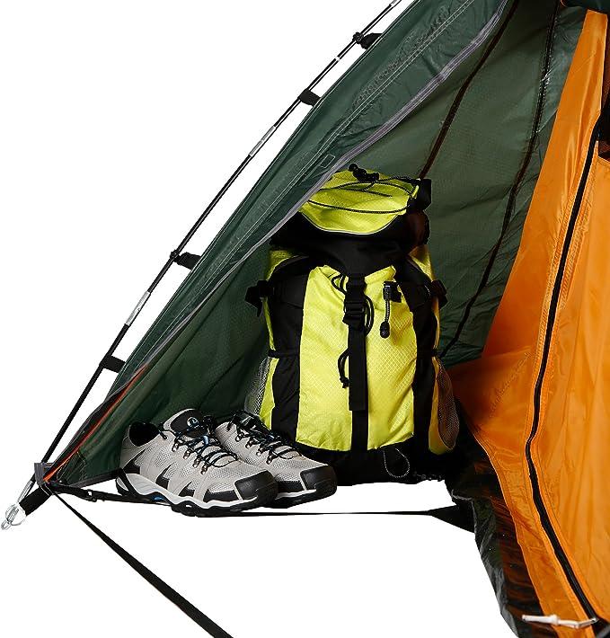 Ultrasport Tienda de campaña adecuada para festivales, camping y trekking, se entrega con bolsa de transporte, protección UV y mosquiteros, columna de ...