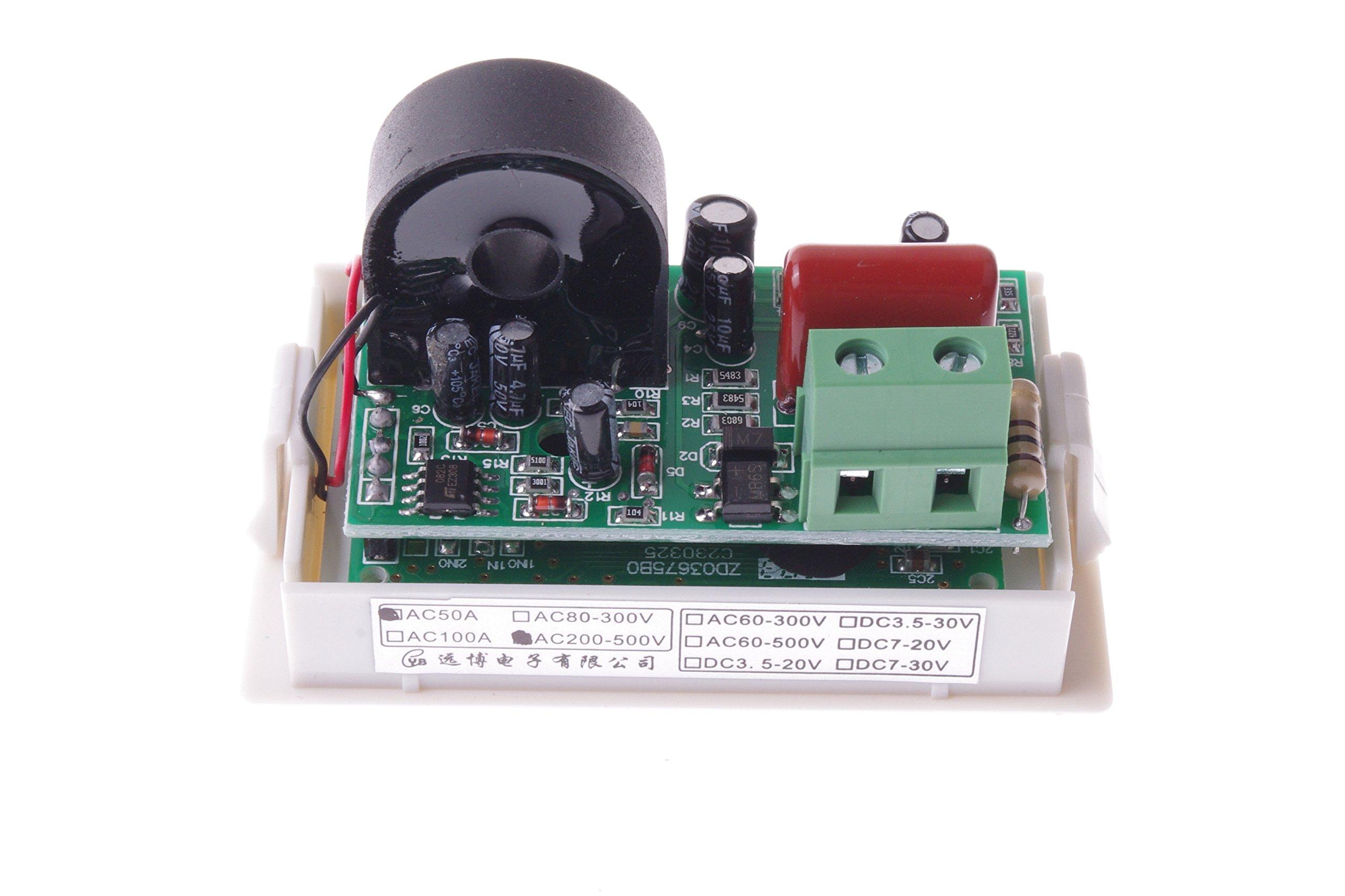 SMAKN AC 200-500V/50A Digital LCD Display Voltmeter Amperemeter Volt Gauge+Current Measure Sense Resistor by SMAKN (Image #7)