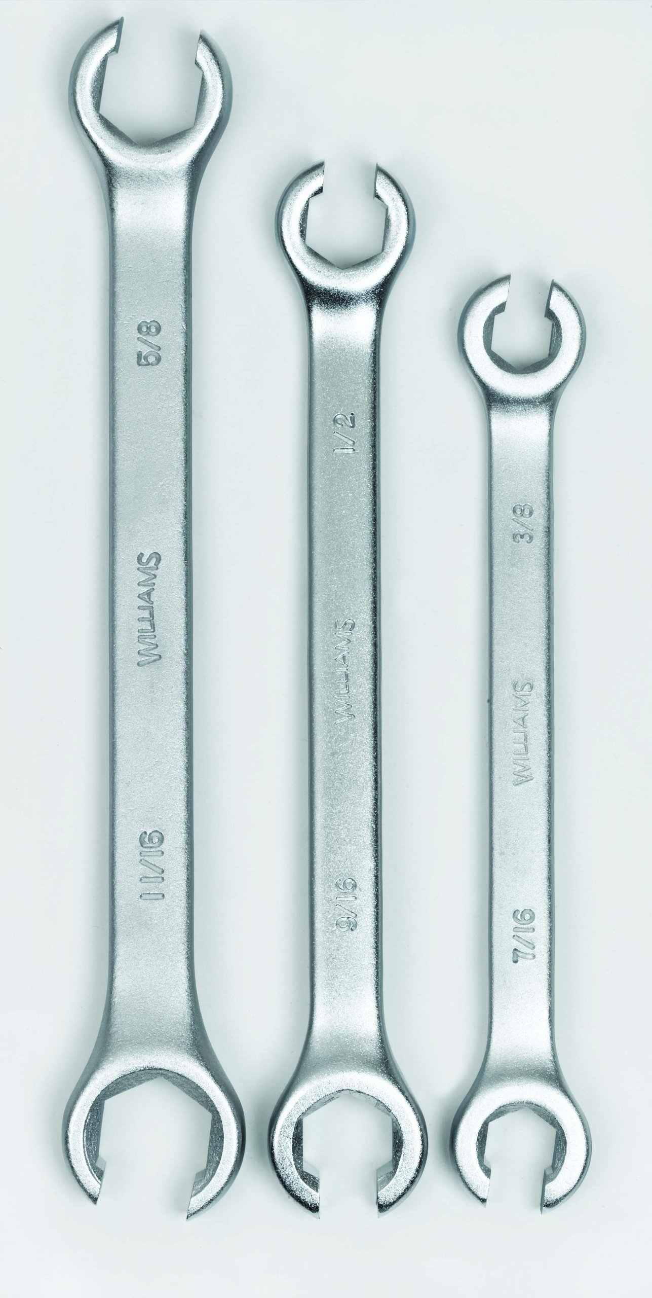 Williams 11691 3-Piece Double Head Flare Nut Wrench Set