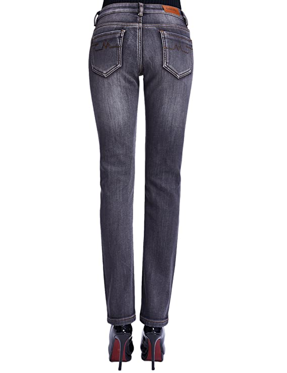 Camii Mia Womens Thermal Slim Fit Winter Fleece Lined Jeans