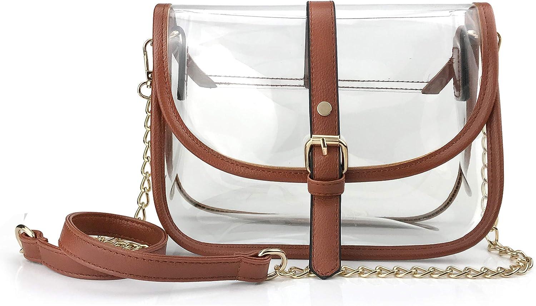 Clear Saddle Cross Body Bag...