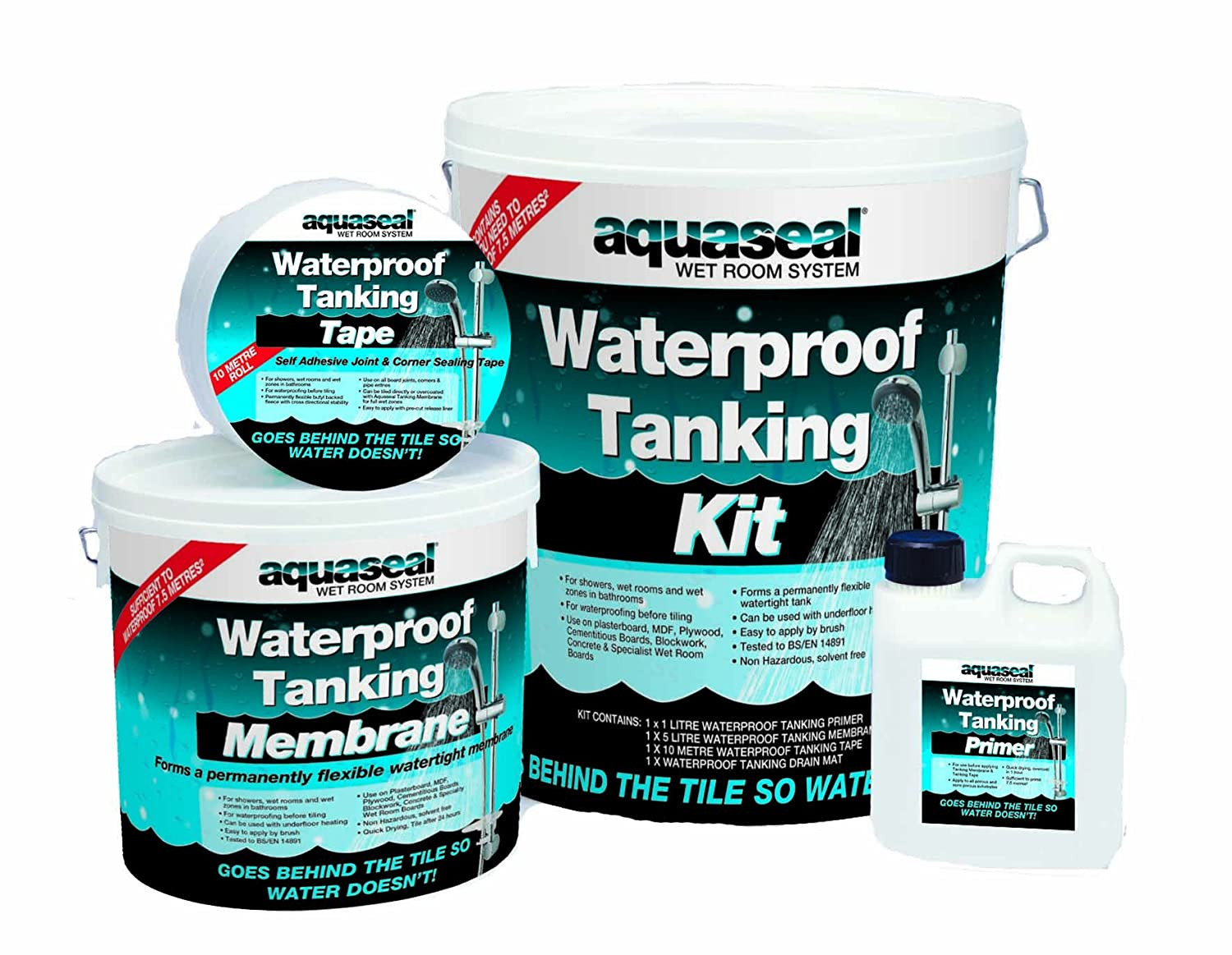 Aquaseal Wet Room System Kit - Waterproofing membrane for shower and ...