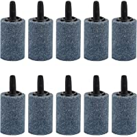 """Pawfly 10 PCS Air Stone Cylinder 1.2"""" Bubble Diffuser Airstones for Aquarium Fish Tank Pump"""