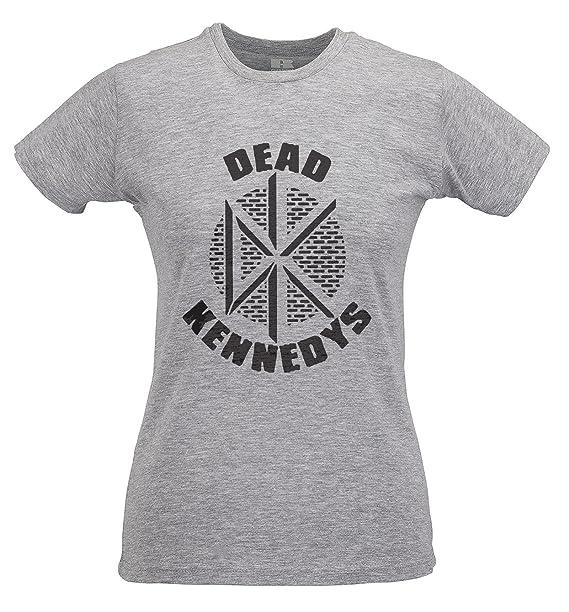 LaMAGLIERIA Camiseta Mujer Slim Dead Kennedys Black Print - T-Shirt Punk Rock 100% Algodòn Ring Spun: Amazon.es: Ropa y accesorios