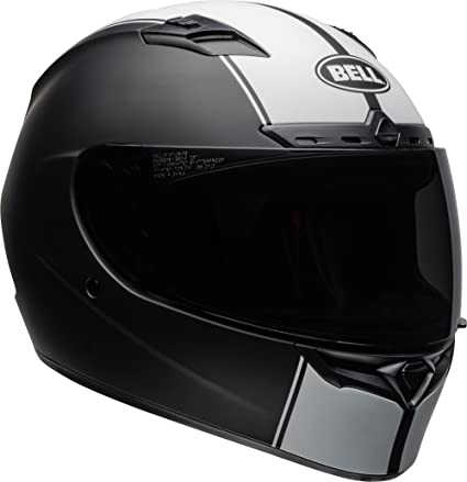 Amazon.com  Bell Qualifier DLX Full-Face Motorcycle Helmet (Rally Matte  Black White bbaec5e2fb4