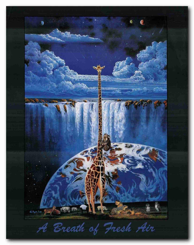 22x28 A Breath Of Fresh Air Animal Nature Wall Decor Art Print Poster