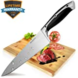 8-Inch Kitchen Knife Stainless Carbon Steel Professional full tang Chef's Knife, forged razor sharp Cleaver for vegetable and meat, Sturdy & Ultra Sharp with Ergonomic Handle by Belpink
