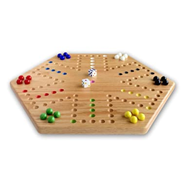 Oak Hand-painted Double-sided Aggravation Game Board, 16  Wide