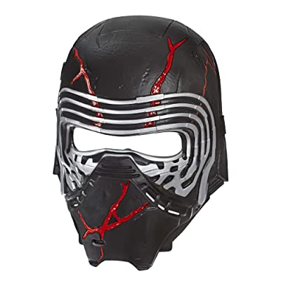 Star Wars: The Rise of Skywalker Supreme Leader Kylo Ren Force Rage Electronic Mask for Kids Role-Play & Costume Dress Up, Brown: Toys & Games