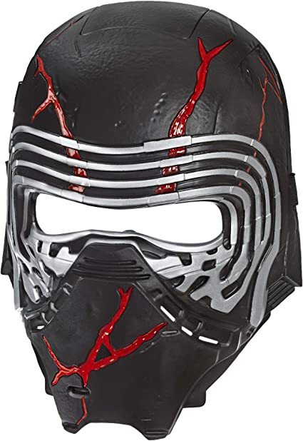 Amazon Com Star Wars The Rise Of Skywalker Supreme Leader Kylo Ren Force Rage Electronic Mask For Kids Role Play Costume Dress Up Brown Toys Games